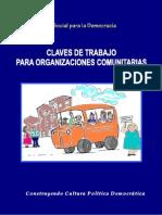 Claves de trabajo para organizaciones comunitarias