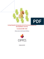 Informe Coparticipación Provincial (Octubre 2015)