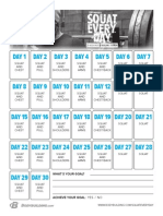 Squat Everyday Calendar