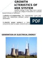 Growth Characteristics of Power System