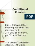 Conditional Clauses