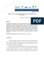 Radio Escola Ferramenta Pedagogica e Exercicio de Cidadania