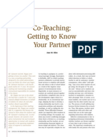 assigned co-teaching getting to know your partner