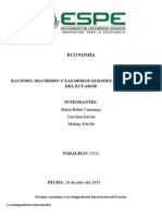Racismo, Machismo y Las Desigualdades Estructurales Del Ecuador