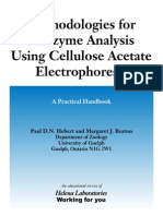 Methodologies for Allozyem Analysis Using Cellulose AcetateElectrophoresis