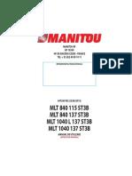 Manual MANITOU MLT 1040