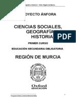 Ciencias Sociales Geografía e Historia 1 Eso Ánfora Región de Murcia