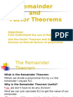 a remainder theorem and factor theorem  1
