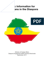 Basic Information for the Ethiopian Diaspora