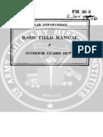 Field Manual 26-5 Interior Guard Duty 1942