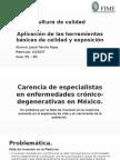 Aplicación de Las Herramientas Básicas de Calidad y Exposición