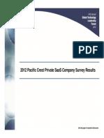Pacific Crest 2012 SaaS Survey