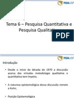 Pesquisa Qualitativa e Quantitativa