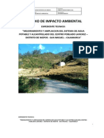 Estudio de Impacto en Proyectos de Saneamiento