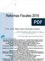 Reformas Fiscales 2016