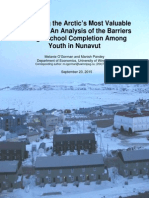 Report on barriers to high school completion by Nunavut youth