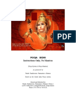pooja bidhi - 1 - instructions only no mantras
