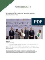 29-10-2015 Periódico Digital - En Coordinación Con La Federación, Generamos Desarrollo y Bienestar, Moreno Valle