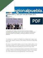 29-10-2015 Regional Puebla - Inaugura RMV y Tony Gali Feria de Empleo 2015
