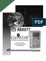 Abbott Gemstar - User Manual