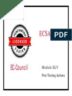 LPTv4 Module 45 Post Testing Actions