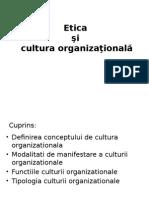 Etica Si Cultura Organizationala