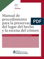 Manual de Procedimiento Para La Preservación Del Lugar Del Hecho y La Escena Del Crimen Programa Nacional de Crimnalística