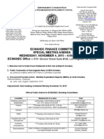 ECWANDC Finance Committee Special Meeting Agenda - November 4, 2015