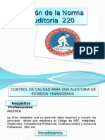 NIA 220 Presentación