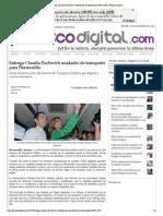 27-10-15 Entrega Claudia Pavlovich unidades de transporte para Hermosillo - Peñasco Digital