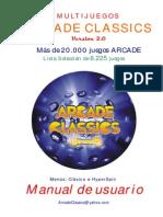 Manual Multijuegos ARCADE CLASSICS v2