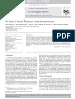 Business Analytics Supply Chain Performance