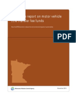 Legislative report on motor vehicle title transfer fee funds