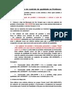 Parametrização Do Controle de Qualidade No Protheus Avaliacao de Fornecedores