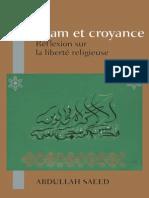 Islam et croyance