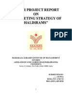 Minor Project Report on Haldirams