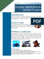 Gestion Ambiental de Acites Usados