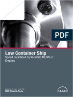 MAN Low Container Ship Speed Facilitated By