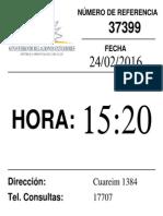 JAGV Ticket de Cita en Uruguay