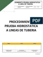 prueba hidrostatica a lineas de tuberias.