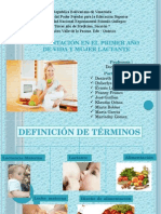 Alimentacion Mujer LactanteMUJER LACTANTE