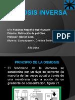 Osmosis Inversa Llancaqueo Cristina