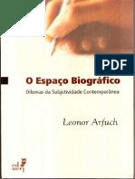 Arfuch, Leonor. o Espaço Biografico (Completo)