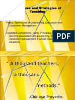 Principles and Strategies of Teaching Discussion Techniques