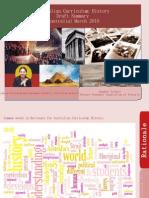 Draft Summary Australian Curriculum History