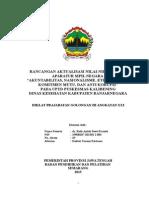 Cover, Persetujuan, Pengesahan, Prakata, Daftar Isi Rancangan
