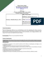 Social Development ISS1120 Syllabus Fall 2014 Munroe