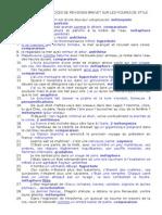 Exercices de Revisions Brevet Sur Les Figures de Style - Copie