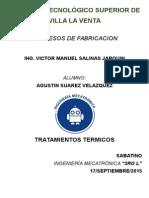 Tratamientos Termicos, Procesos de Fabricacion, AGUSTIN SUAREZ VELAZQUEZ