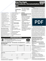 Shipping the Right Way – Procedures Documentation and Practices